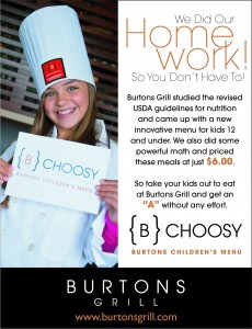 B Choosy Children's Menu