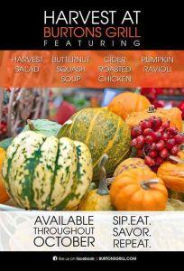 Burtons Grill Fall Harvest Menu